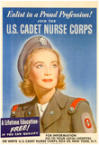 Enlist in a Proud Profession Join the US Cadet Nurse Corps WWII War Propaganda Art Print Poster Poster