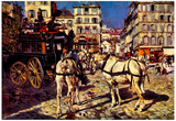 Giovanni Boldini Buses on the Pigalle Place in Paris Art Print Poster Prints
