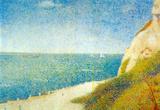 Georges Seurat The Beach Art Print Poster Masterprint