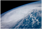 Hurricane Irene from Space Art Print Poster Plakat