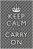 Keep Calm and Carry On Zebra Print Poster Posters