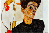 Egon Schiele Self-Portrait Art Print Poster Photo