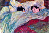 Henri de Toulouse-Lautrec Sleeping Art Print Poster Poster