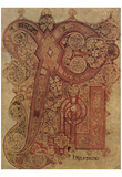 Masters of the Book of Kells (Book of Kells, Christus monogram, initials) Art Poster Photo