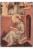 Gentile da Fabriano (Marie coronation, gable paintings, the right inner panel, Scene: St. Thomas Aq Poster