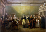 General George Washington Resigning his Commission Historic Art Print Poster Posters