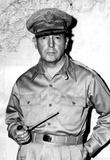 General Douglas MacArthur with Pipe Archival Photo Poster Print Masterprint