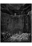 "Gustave Doré (Illustration to Dante's ""Divine Comedy,"" Inferno - Cliff) Art Poster Print Photo"