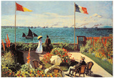 Claude Monet Garden at Sainte-Adresse Art Print Poster Prints