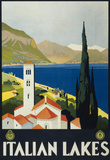 Italian Lakes Tourism Vintage Ad Poster Print Masterprint