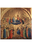 Fra Angelico (Marie coronation) Art Poster Print Photo