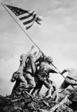 Iwo Jima Raising the Flag WWII Archival Photo Poster Print Masterprint