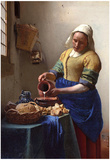 Johannes Vermeer The Milkmaid Art Print Poster Photo