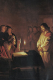 Honthorst Christ in Front of the High Priest Art Print Poster Masterprint