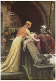 Edmund Blair Leighton (A Lady's Favor) Art Poster Print Póster