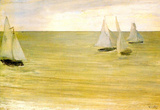 James Whistler Grey and Green the Silver Sea Art Print Poster Masterprint