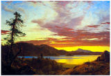 Frederick Edwin Church A Sunset Art Print Poster Posters