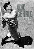 Lou Gehrig Stats Archival Photo Sports Poster Print Posters
