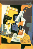 Juan Gris Violin and Glass Art Print Poster Prints