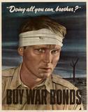 Doing All You Can Brother Buy War Bonds WWII Propaganda Art Print Poster Masterprint