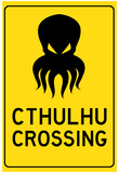 Cthulhu Crossing Creature Print Poster Prints