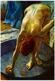 Edgar Degas The Tub Art Poster Poster