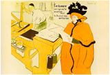 Henri de Toulouse-Lautrec Jane Avril Checking a Print Sample Art Print Poster Prints