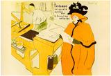Henri de Toulouse-Lautrec Jane Avril Checking a Print Sample Art Print Poster Prints