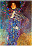 Gustav Klimt Portrait of Emily Floge Art Print Poster Posters