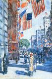 Childe Hassam Flags Fifth Avenue Art Print Poster Masterprint