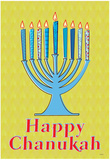 Happy Chanukah (Menorah) Art Poster Print Posters