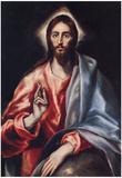 El Greco Christ the Saviour Art Print Poster Print