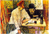 Henri de Toulouse-Lautrec A la Mie in the Restaurant Art Print Poster Prints