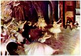 Edgar Degas Stage Trial Art Print Poster Posters