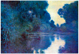 Claude Monet Seine Bend in Giverny Art Print Poster Posters