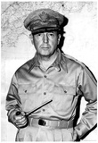 General Douglas MacArthur with Pipe Archival Photo Poster Print Print