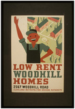 Cleveland Metropolitan Housing Authority (Low Rent Woodhill Homes) Art Poster Print Prints