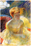 Mary Cassatt Lydia the Arms Rested in the Theater Loge Art Print Poster Prints