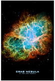 Crab Nebula Text Space Photo Art Poster Print Print