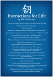 Dalai Lama Instructions For Life Blue Motivational Poster Art Print Pôsters
