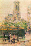 Frederick Childe Hassam St.Germain l'Auxerrois Art Print Poster Posters
