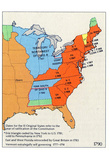 Map of United States (Territorial Growth, 1790) Art Poster Print Posters