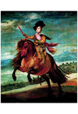 Diego Vel&#225;zquez (Portrait of Prince Balthasar Carlos on horseback) Art Poster Print Prints