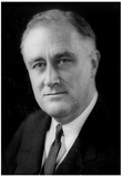 Franklin Delano Roosevelt Portrait Archival Photo Poster Print Print