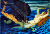 Franz von Stuck Wind and Wave Art Print Poster Posters