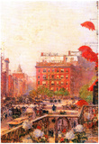 Childe Hassam Broadway and Fifth Avenue Art Print Poster Posters