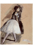 Edgar Germain Hilaire Degas (Dancer in step position) Art Poster Print Posters