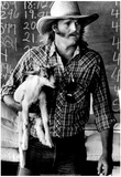 Farmer and Baby Goat Archival Photo Poster Photo