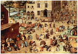 Pieter Bruegel Child's Play Art Print Poster Poster