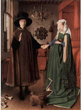Jan van Eyck (Arnolfini Wedding, Wedding Picture of Giovanni Arnolfini and his wife Giovanna Cenami Masterprint